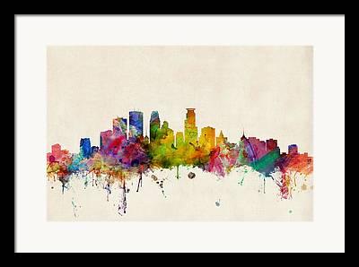 Minneapolis Framed Prints