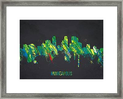 Minneapolis Minnesota Usa Framed Print by Aged Pixel