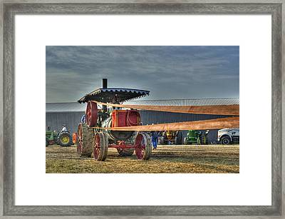Minneapolis Return Flue Threshing Framed Print