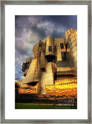 Minneapolis Skyline Photography Weisman Museum Framed Print by Wayne Moran