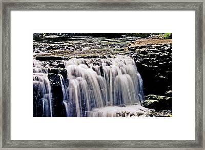 Minneopa Falls Upper Framed Print by Mark Russell