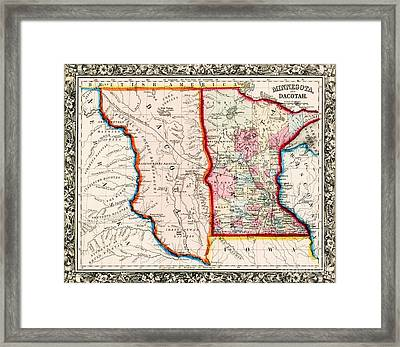 Minnesota And Dacotah  Framed Print by Pg Reproductions