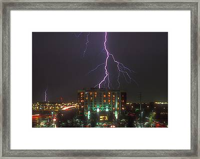 Minnesota Electrical Storm Framed Print by Mike McGlothlen