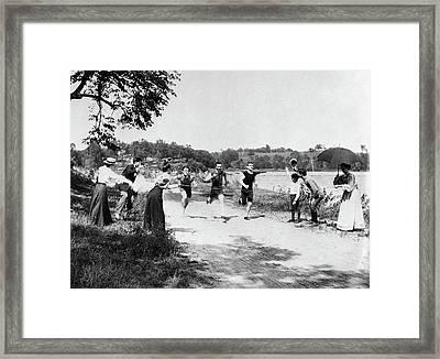 Minnesota Foot Race Framed Print by Granger