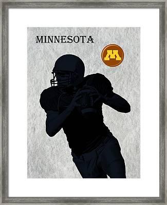 Minnesota Football Framed Print by David Dehner
