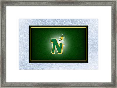 Minnesota North Stars Framed Print by Joe Hamilton