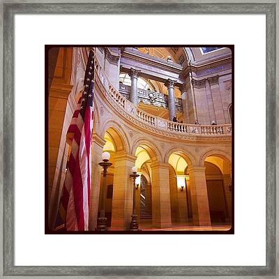Minnesota State Capitol Building Framed Print