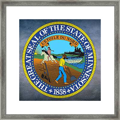 Minnesota State Seal Framed Print by Movie Poster Prints