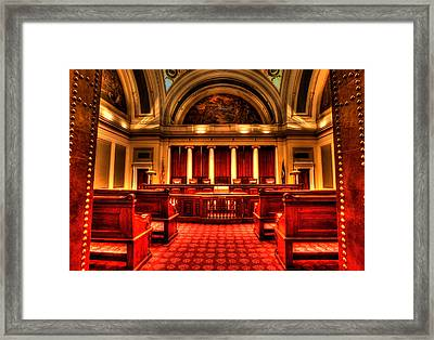 Minnesota Supreme Court Framed Print by Amanda Stadther