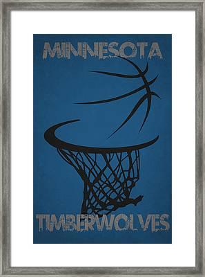 Minnesota Timberwolves Hoop Framed Print