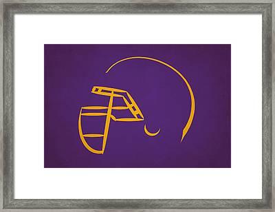 Minnesota Vikings Helmet Framed Print by Joe Hamilton