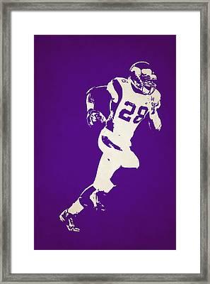 Minnesota Vikings Shadow Player Framed Print