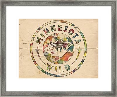 Minnesota Wild Poster Art Framed Print