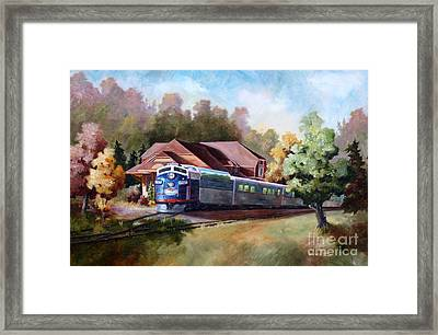 Framed Print featuring the painting Minnesota Zephyr by Brenda Thour