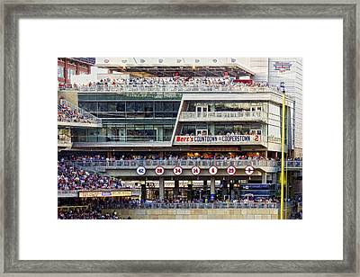 Minnesota's Bert's Countdown  To Cooperstown Framed Print by Susan Stone