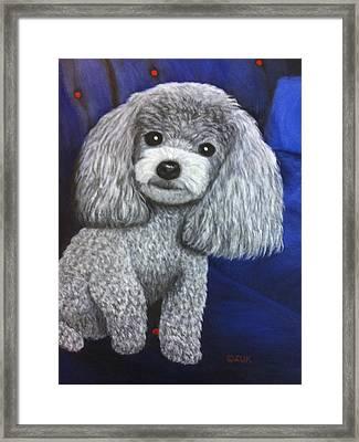 Framed Print featuring the painting Minnie by Karen Zuk Rosenblatt