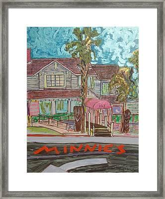 Minnie S Restaurant Framed Print by James Christiansen