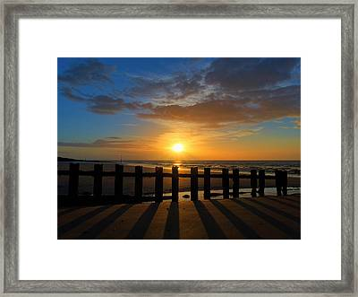Minnis Bay Sunset Framed Print