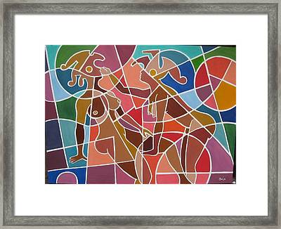 Minoan Lovers Framed Print by Bala Deva