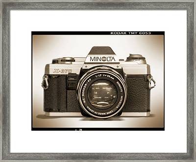 Minolta X-370 Framed Print by Mike McGlothlen