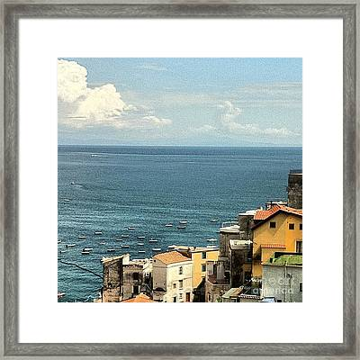 Minori By The Sea Framed Print by H Hoffman