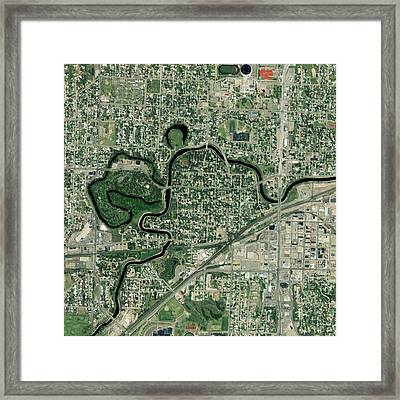 Minot, North Dakota, Usa, Satellite Framed Print by Science Photo Library