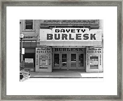 Minsky Burlesque Theater Framed Print by Underwood Archives