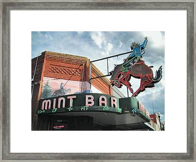 Mint Bar Sheridan Wyoming Framed Print