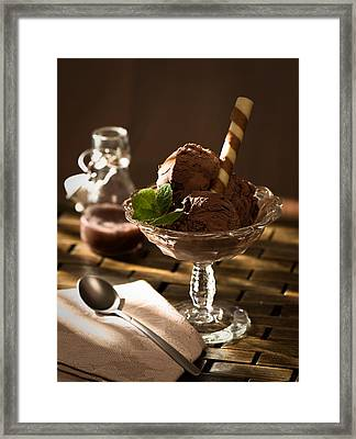 Mint Choc Chip Ice Cream Framed Print by Amanda Elwell