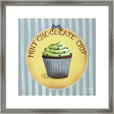 Mint Chocolate Chip Cupcake Framed Print by Catherine Holman