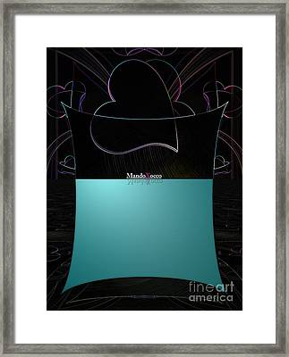 Mint Line Framed Print
