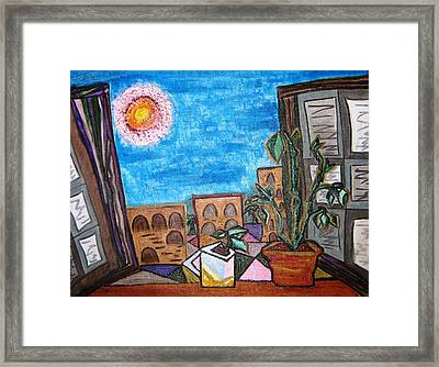 Mint Plant Tea Mediterranean  Framed Print by Lois Picasso