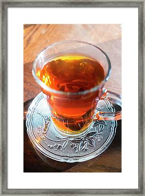Mint Tea, Cafe, Amman, Jordan Framed Print by Peter Adams