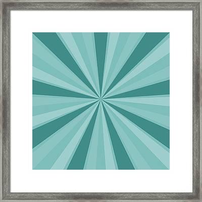 Mint Teal Sun Burst Framed Print