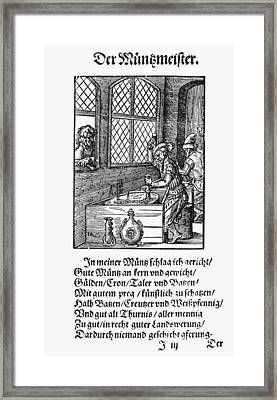 Minting Coins, 1568 Framed Print