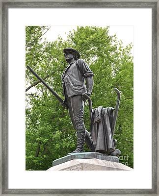 Minute Man Statue Concord Ma Framed Print by Staci Bigelow