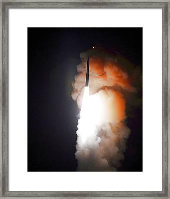 Minuteman IIi Missile Test Framed Print