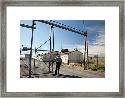 Minuteman Missile Launch Site Framed Print by Jim West