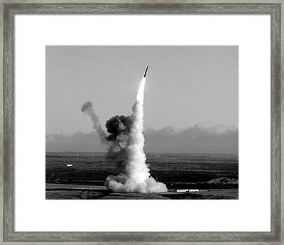 Minuteman Nuclear Missile Launch Framed Print by Us National Archives