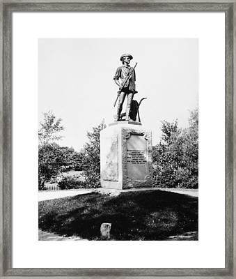 Minuteman Statue Framed Print by Granger