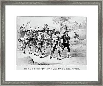 Minutemen Heroes Of 1776 Framed Print
