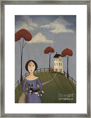Mirabelle's Cat Framed Print by Catherine Holman