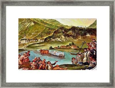 Miracle After Saint Notburga Death Framed Print