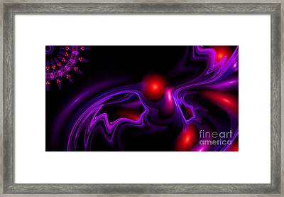 Framed Print featuring the digital art Miracle Beads by Hanza Turgul