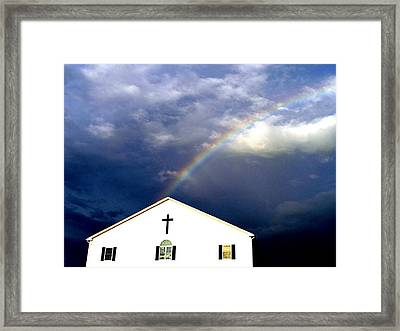 Miracle Birth Today Framed Print