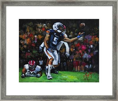 Miracle Catch 3 Framed Print