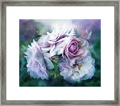 Miracle Of A Rose - Lavender Framed Print