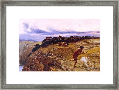 Miracle Of The Gaderene Swine Framed Print by Pg Reproductions