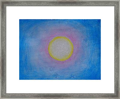 Miracle Of The Sun Framed Print by Darcie Cristello