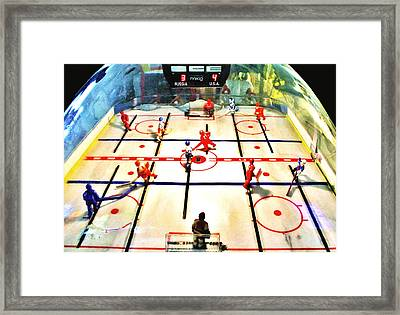 Miracle On Plastic Framed Print